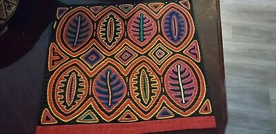 Reverse Applique mola by the Kuna Indians of the San Blas Islands in Panama.