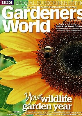 BBC Gardeners World February 2017  ~ Special Subscriber's Edition