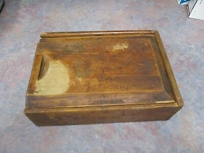 Spice box, slide lid, pine 4 areas original finish hand dovetailed untouched.