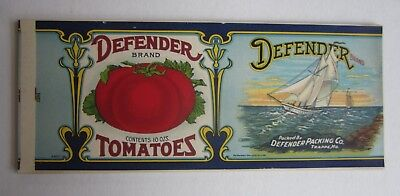 Wholesale Lot of 25 Old Vintage 1920's - DEFENDER Tomatoes CAN LABELS Trappe MD.