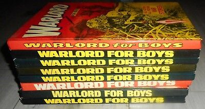 Lot Of 8 The Warlord Comic Annuals , 1977 To 1988 , Vg  To Excellent Condition.