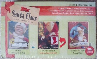 Topps 2007 Santa Claus Holiday Trading Card Box Set Sealed