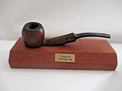 Vintage Comoy's Of London Christmas 1991 Wood Pipe with Stand England