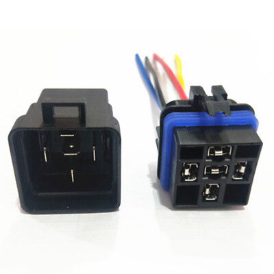 12V 24 Volt DC 40A AMP Relay & Socket SPDT 4-Pin 5 Wire For Car / Auto / Truck