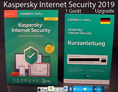 Kaspersky Internet Security 2019 Upgrade Box 1 Gerät (PC/Mac/Android) OVP NEU