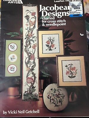 Leisure Arts Leqaflet 170 - Jacobean Designs for Cross stitch  needlepoint 1980