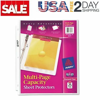 Avery 74171 Multi-Page Top-Load Sheet Protectors, Heavy Gauge, Letter, Pack 25