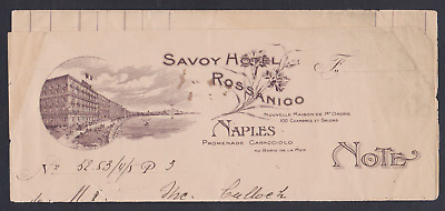 Savoy Hotel Rossanigo Naples - Bill with Marco Bollo revenue - nicely cancelled
