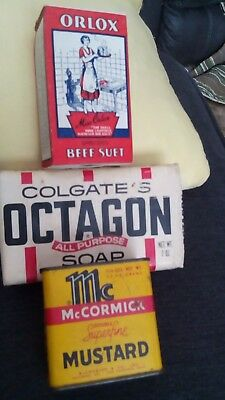 COLGATE'S OCTAGON ALL PURPOSE SOAP NEW UNOPENED 7 OZ. Not old. McCormick tin
