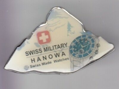 Rare Pins Pin's .. Luxe Montre Watch Armee Army Hanowa Suisse Switzerland ~D2