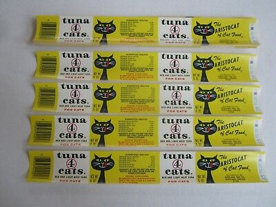 Wholesale Lot of 100 Old Vintage - TUNA 4 CATS - Can LABELS - Portland Oregon