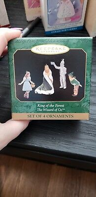 1997 Hallmark King of the Forest-Wizard of Oz Miniature 4 Figure Set