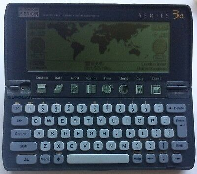 Psion Series 3a Palm Computer PDA VG Cosmetics Broken Hinge