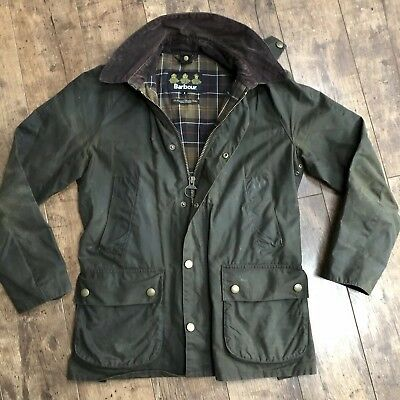 Men's Barbour Ashby Olive Khaki Wax Jacket Small