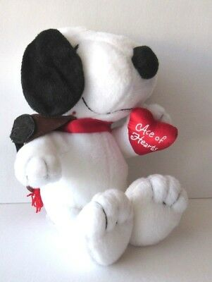 Peanuts Snoopy Ace of Hearts Plush Stuffed Animal Dog