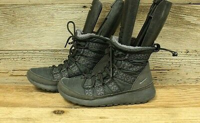 best sneakers d9efd c1bd2 Women Nike Tanjun High Rise Sneaker Lace Up Black Winter Ankle Boot Booties  Sz6