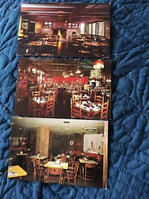 Lot of 3 vintage roadside Restaurant postcards~Joliet/Hinsdale IL, Flemington NJ
