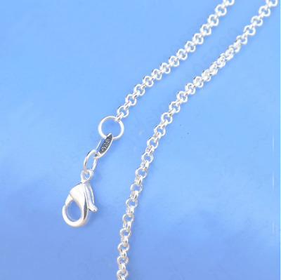Genuine 925 Solid Sterling Silver Curb Chain Necklace