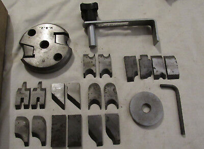 Vintage spindle moulding cutter with some cutters Multico? woodworking tool