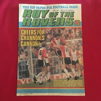 Roy of the Rovers Comic 24th July 1982, Good Condition