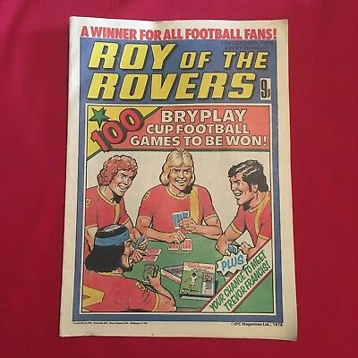 Roy of the Rovers Comic 21st October 1978, Good Condition