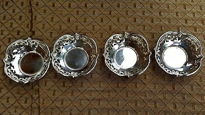 Vtg Lot of 4 Toronto Canadian Roden Brothers 925 Sterling Silver Nut Dish Dishes