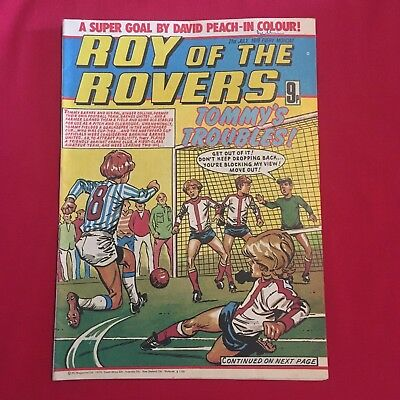 Roy of the Rovers Comic 21st July 1979, Good Condition