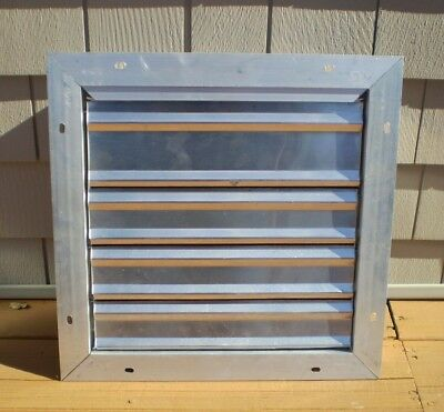 Aluminum Dayton Wall Backdraft Damper 14 X 14