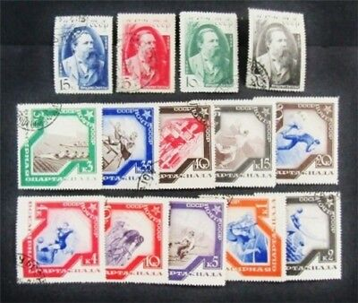 nystamps Russia Stamp # 555-568 Used $79