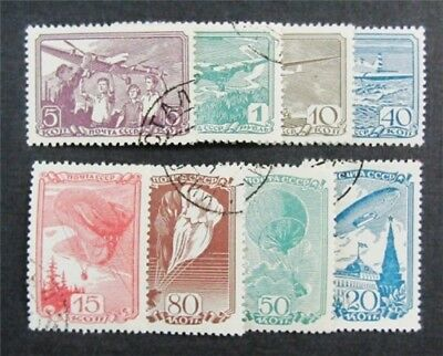 nystamps Russia Stamp # 678//686 Used $33