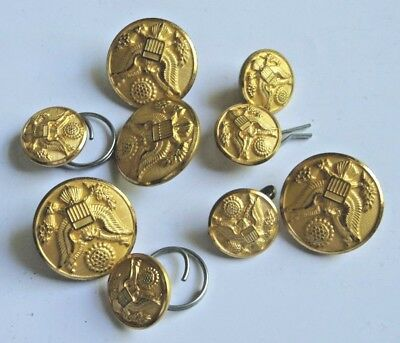 USAF Metal Military Buttons Gold Tone