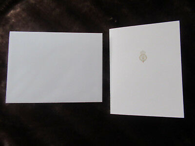 HRH The Prince of Wales BLANK Official Christmas Card & Envelope