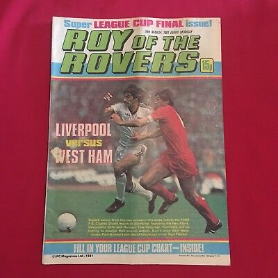 Roy of the Rovers Comic 14th March 1981, Good Condition