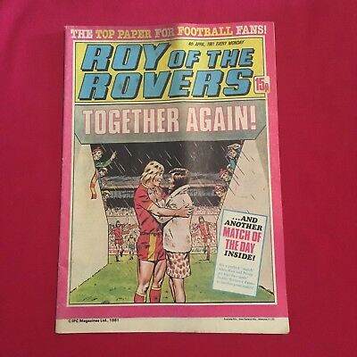 Roy of the Rovers Comic 4th April 1981, Good Condition