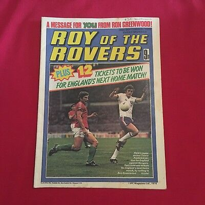 Roy of the Rovers Comic 30th September 1978, Good Condition