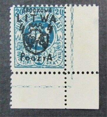 nystamps Russia Central Lithuania Stamp # 15 Mint OG H $48