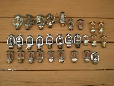 Lot of 35 Vintage Fire Sprinkler Heads