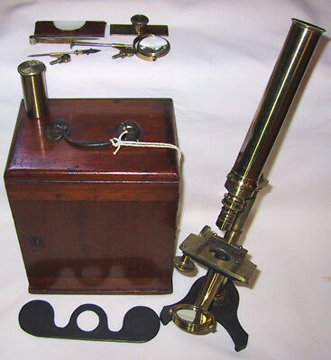 1860 Compound Microscope by J. Amadio