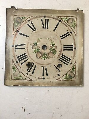 Antique Wood Works Ogee Clock Face Dial Folk Art Painted Stratton Worcester MA