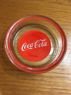 Coca Cola Glass Ash Tray coke button logo