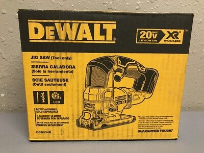 DEWALT DCS334B 20-Volt MAX Lithium-Ion Brushless Cordless Jigsaw (Tool Only) NEW