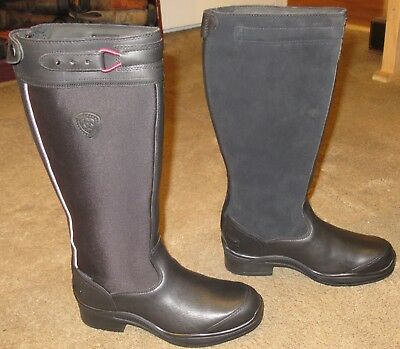 Wmns ARIAT Extreme Waterproof Insulated Tall Riding Boots sz 8 B ~ Excellent