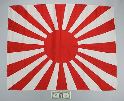 Vintage Japanese Army Rising Sun Imperial Navy Battle Flag Silk 36 X 28