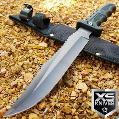 """13"""" SURVIVAL TACTICAL Fixed Blade HUNTING COMBAT Knife MILITARY Bowie w/ Sheath"""