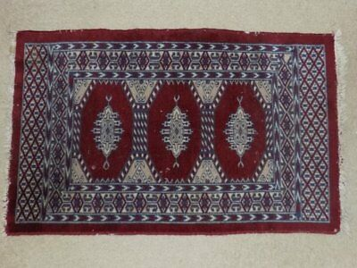 Antique Fine Hand Woven Turkish Middle Eastern Wool Rug 24x38