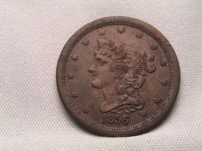 1856 Braided Hair Half Cent!