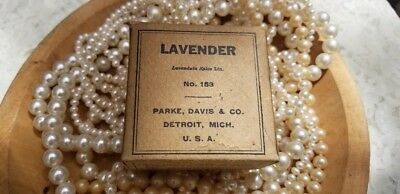 Vintage Old Paper Box French Lavender ~ Shabby Antique ~ Ephemera *
