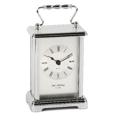 Wm. Widdop Silver Colour  Quartz Carriage Clock