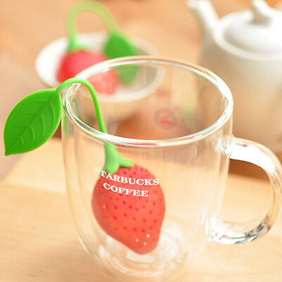 1pc Strawberry Shape Silicone Herbal Spice Infusers Filter Tea Leaf Strainer