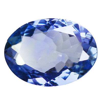 1.06Ct IF Outstanding Oval Cut 8 x 6 mm Natural Purple Blue Tanzanite